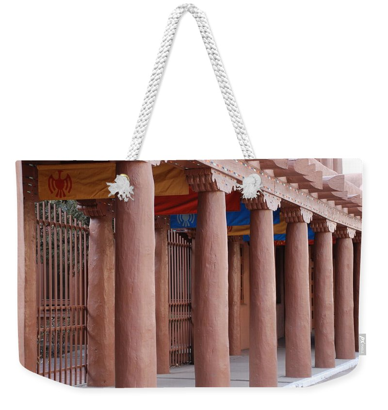 Adobe Weekender Tote Bag featuring the photograph Santa Fe Street by Rob Hans