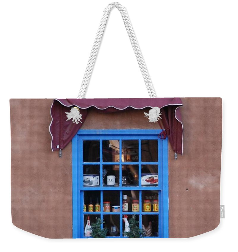Architecture Weekender Tote Bag featuring the photograph Santa Fe Window by Rob Hans
