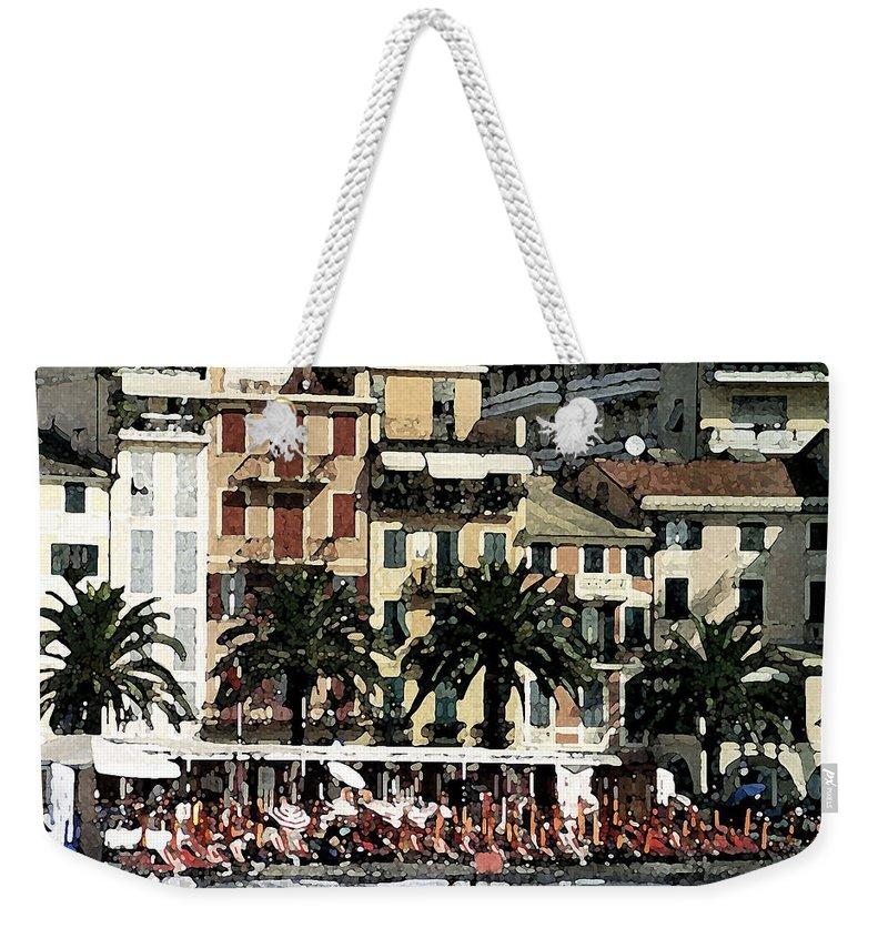 Digital Watercolor Weekender Tote Bag featuring the digital art Santa Margherita by Donna Corless