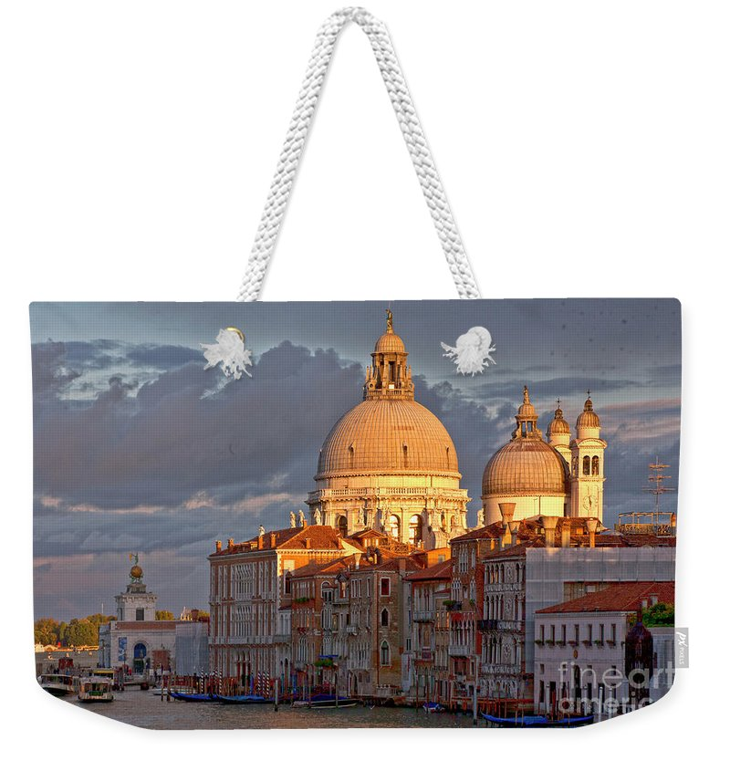 Palazzo Weekender Tote Bag featuring the photograph Santa Maria Della Salute by Heiko Koehrer-Wagner