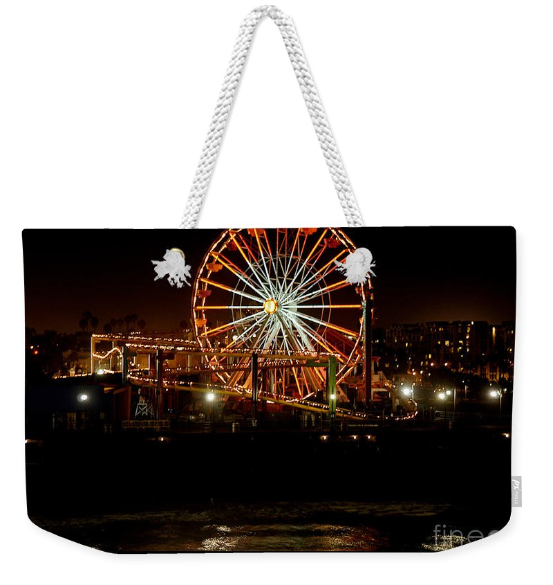 Clay Weekender Tote Bag featuring the photograph Santa Monica Pier October 18 2007 by Clayton Bruster