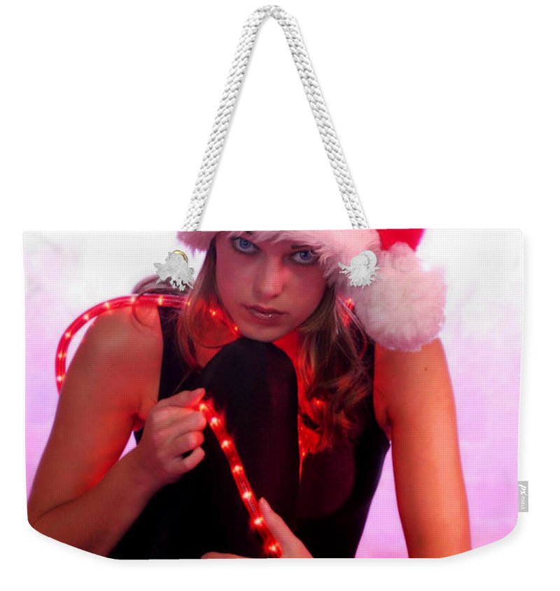 Clay Weekender Tote Bag featuring the photograph Santas Helper by Clayton Bruster