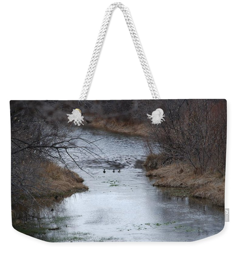Birds Weekender Tote Bag featuring the photograph Sante Fe River by Rob Hans