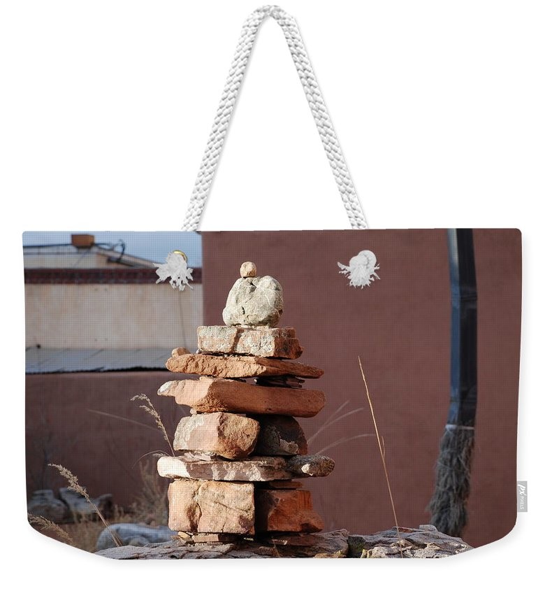 Pop Art Weekender Tote Bag featuring the photograph Sante Fe Rocks by Rob Hans