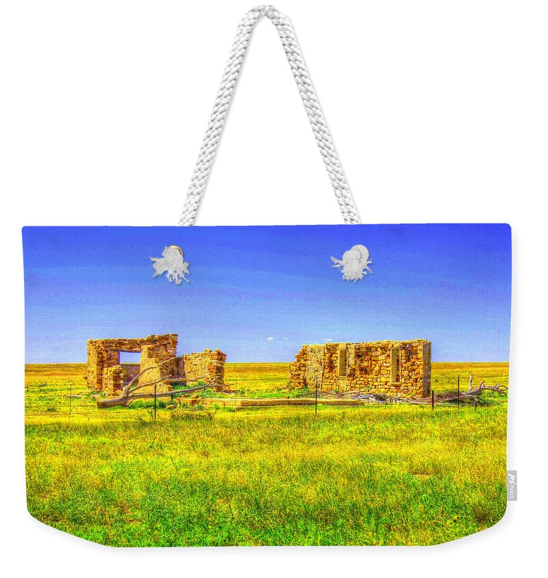 Ruins Weekender Tote Bag featuring the photograph Sante Fe Trail Ruins by Tommy Anderson