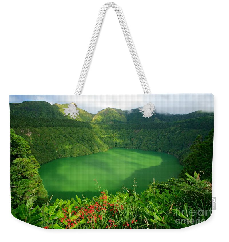 Azores Weekender Tote Bag featuring the photograph Santiago Lake by Gaspar Avila