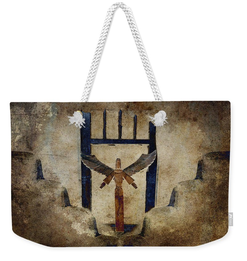 Santo Weekender Tote Bag featuring the photograph Santo by Carol Leigh