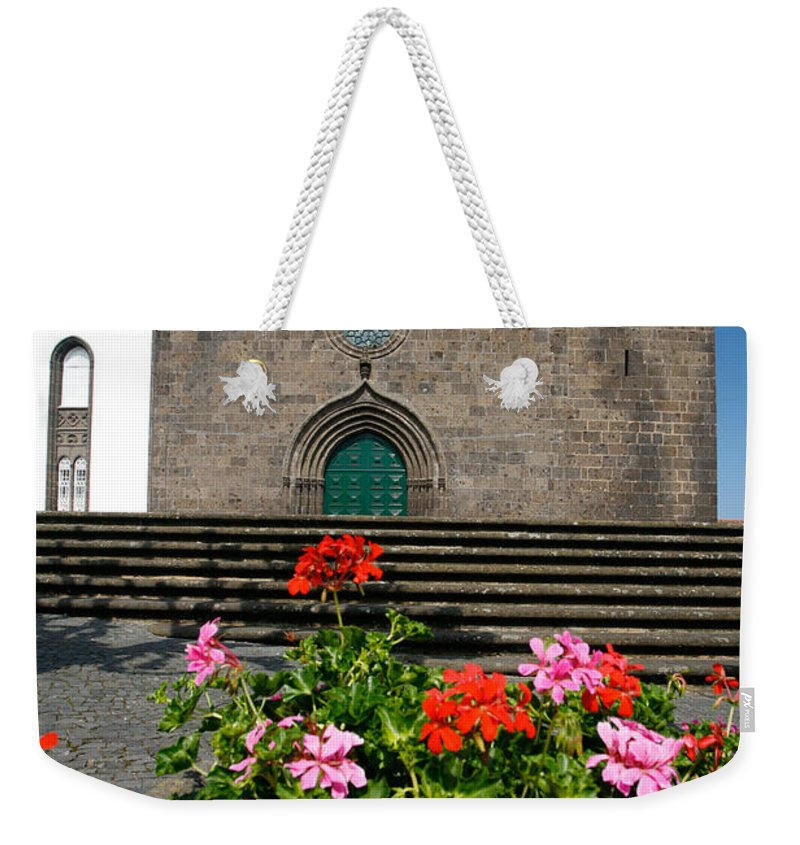 Azoren Weekender Tote Bag featuring the photograph Sao Miguel Arcanjo Church by Gaspar Avila