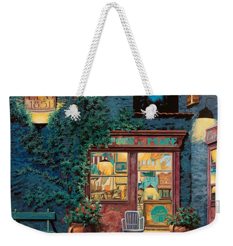Courtyard Weekender Tote Bag featuring the painting Sapore Di Mare by Guido Borelli
