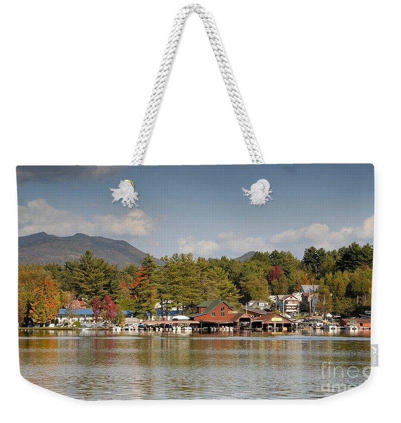 Saranac Lake New York Weekender Tote Bag featuring the photograph Saranac Lake by David Lee Thompson