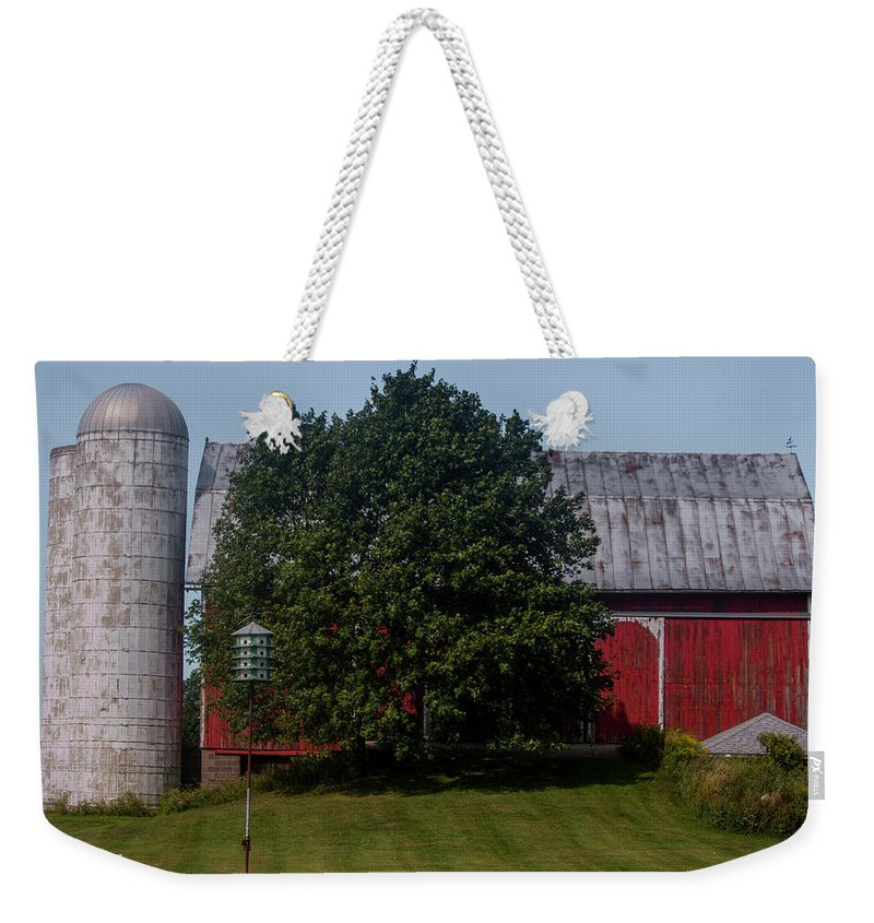 Saranac Michigan Weekender Tote Bag featuring the photograph Saranac Michigan by Dennis R Bean