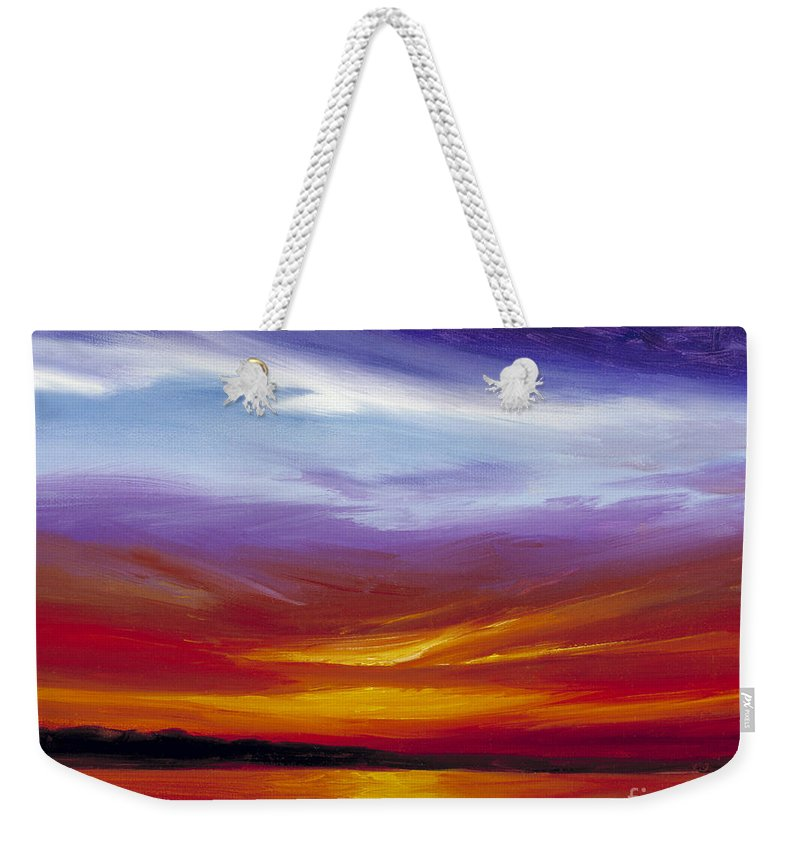Skyscape Weekender Tote Bag featuring the painting Sarasota Bay I by James Christopher Hill