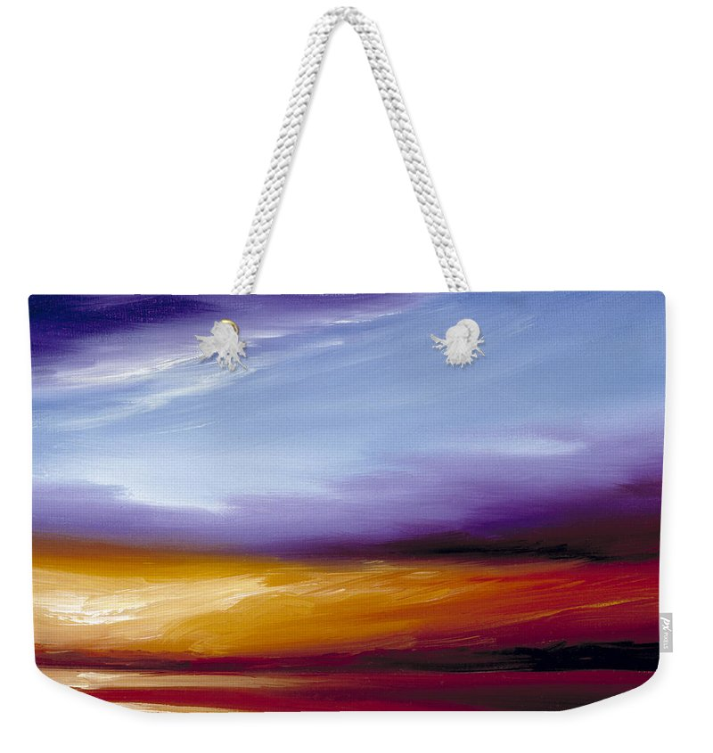 Skyscape Weekender Tote Bag featuring the painting Sarasota Bay II by James Christopher Hill