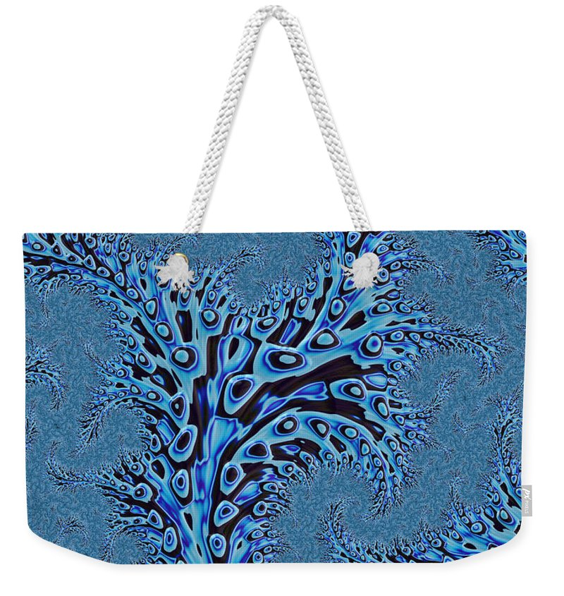 Seaweed Abstract Weekender Tote Bag featuring the digital art Sargasso by John Edwards