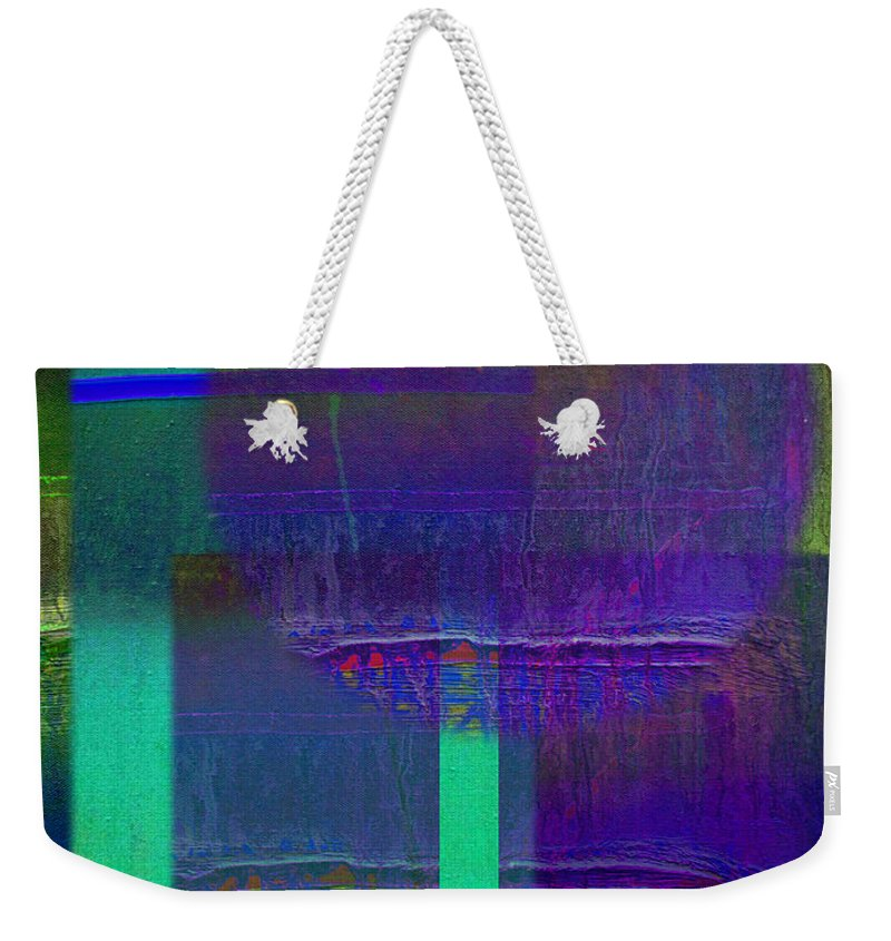 Landscape Weekender Tote Bag featuring the painting Saturn Berry by Charles Stuart