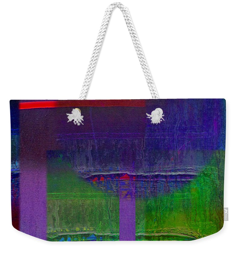 Landscape Weekender Tote Bag featuring the painting Saturn by Charles Stuart