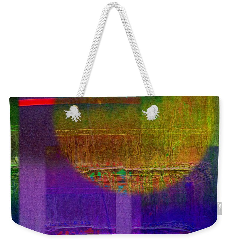 Landscape Weekender Tote Bag featuring the painting Saturn Lavender by Charles Stuart