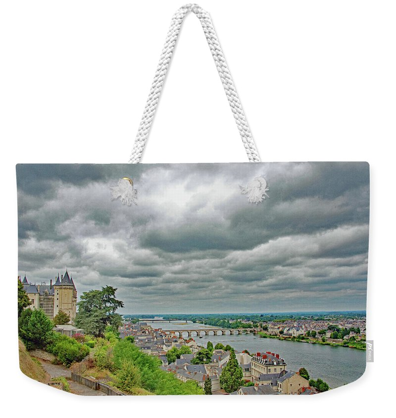 Saumur Weekender Tote Bag featuring the photograph Saumur, Chateau, Loire, France by Curt Rush