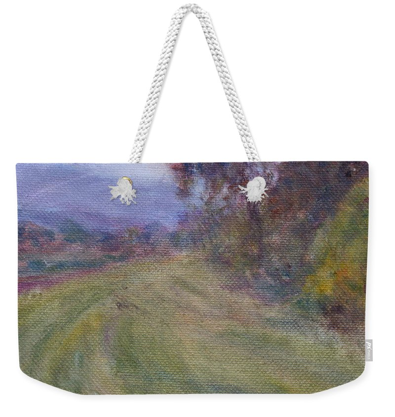 Water Weekender Tote Bag featuring the painting Sauvie Green by Quin Sweetman
