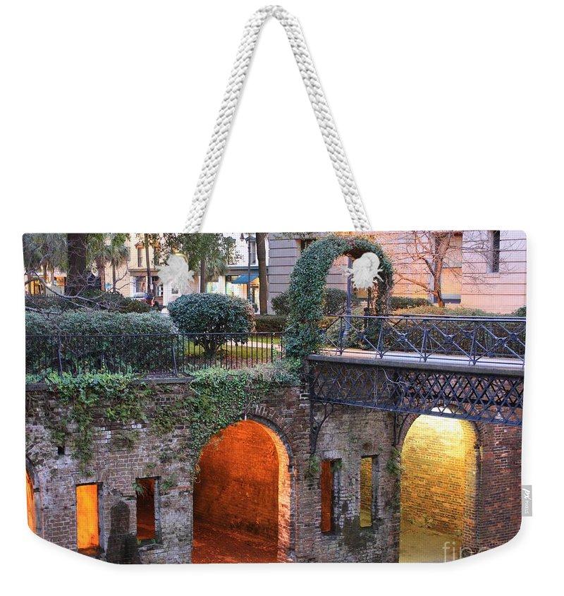 Savannah Weekender Tote Bag featuring the photograph Savannah Lights by Carol Groenen