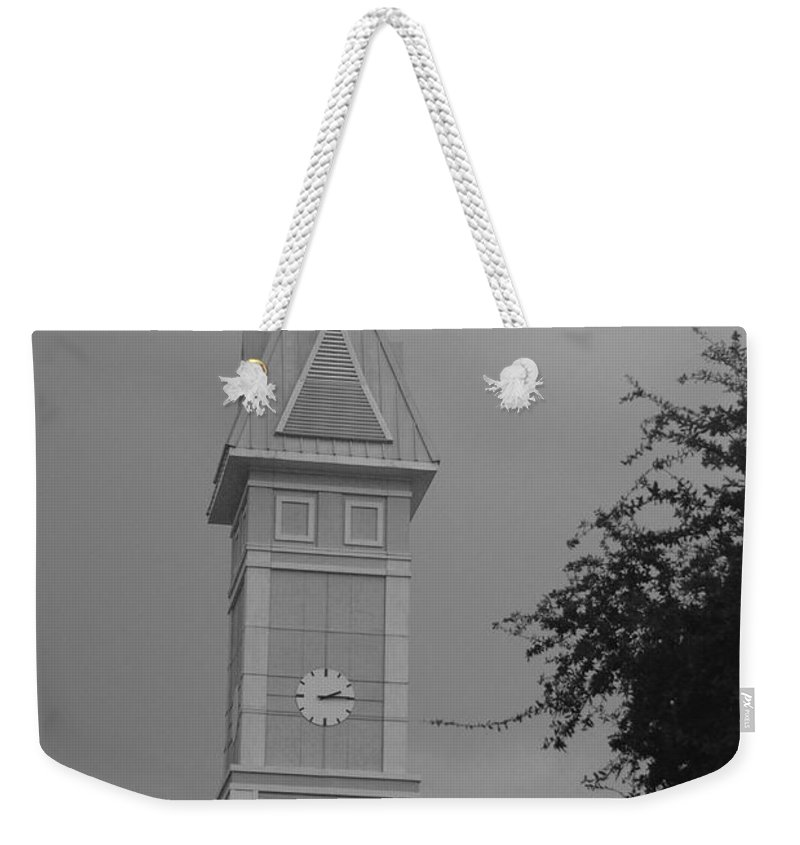 Black And White Weekender Tote Bag featuring the photograph Save The Clock Tower by Rob Hans
