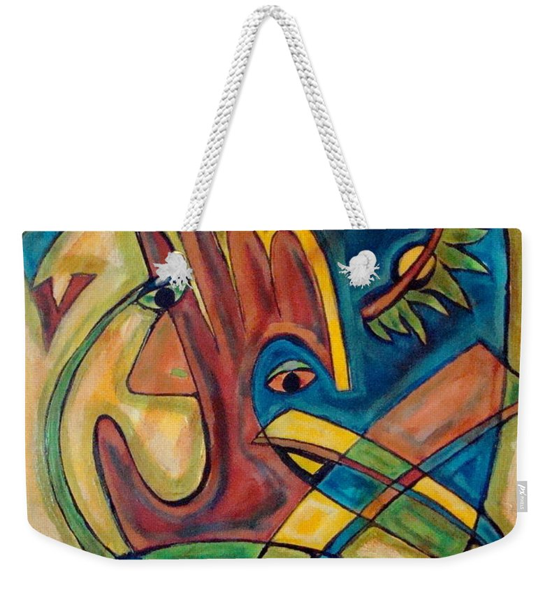 Christian Weekender Tote Bag featuring the painting Save by W Todd Durrance