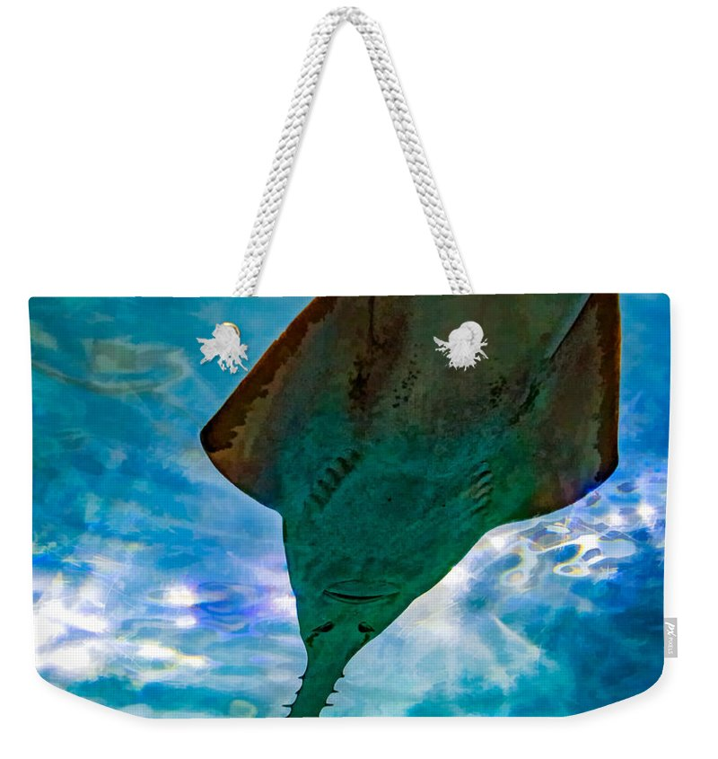 Steve Harrington Weekender Tote Bag featuring the photograph Sawfish by Steve Harrington