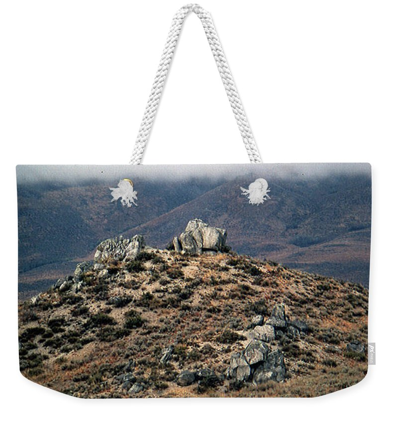 Landscapes Weekender Tote Bag featuring the photograph Sawtooth Mountains by John Schneider