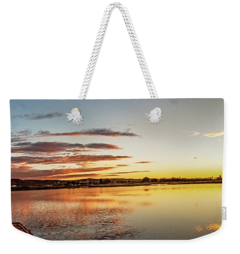 Reflections Weekender Tote Bag featuring the photograph Sawyer Pond by Robert Bales