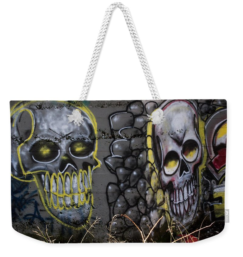 Graffiti Weekender Tote Bag featuring the photograph Say Cheese by Marnie Patchett