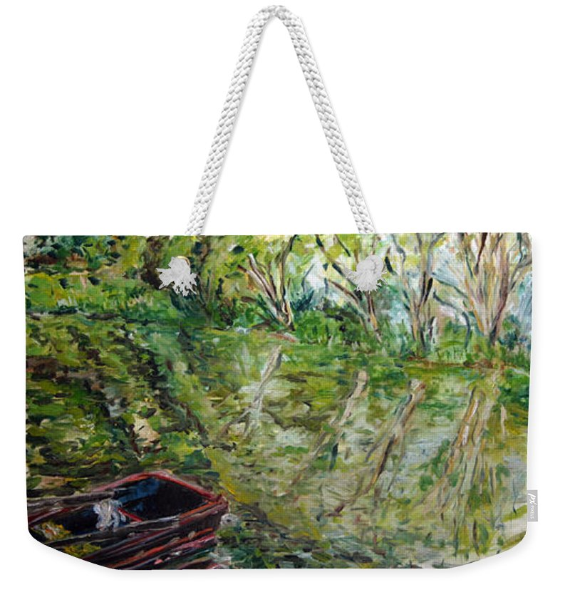 Landscape Weekender Tote Bag featuring the painting Sazava by Pablo de Choros