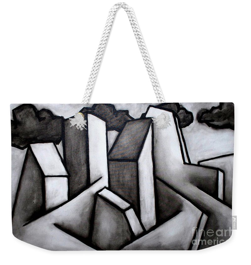 Absract Weekender Tote Bag featuring the painting Scape by Thomas Valentine