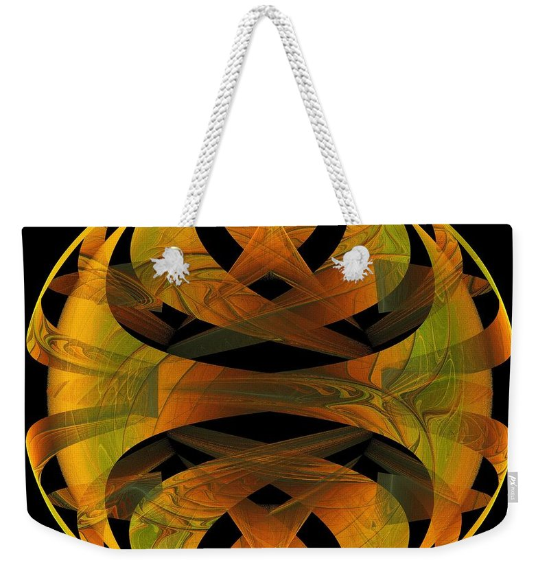 Digital Art Weekender Tote Bag featuring the digital art Scarab by Amanda Moore