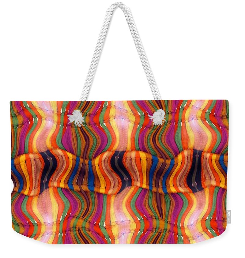 Abstract Weekender Tote Bag featuring the digital art Scarf It Up by Ron Bissett