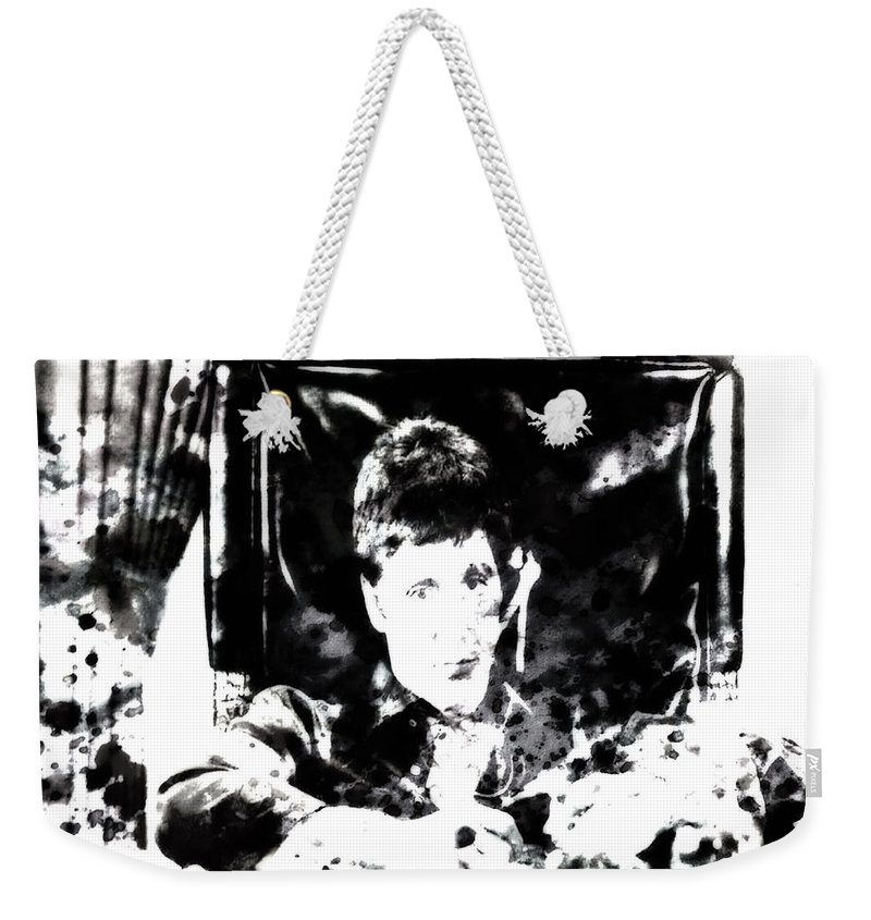 Scarface Weekender Tote Bag featuring the painting Scarface Reflects by Brian Reaves