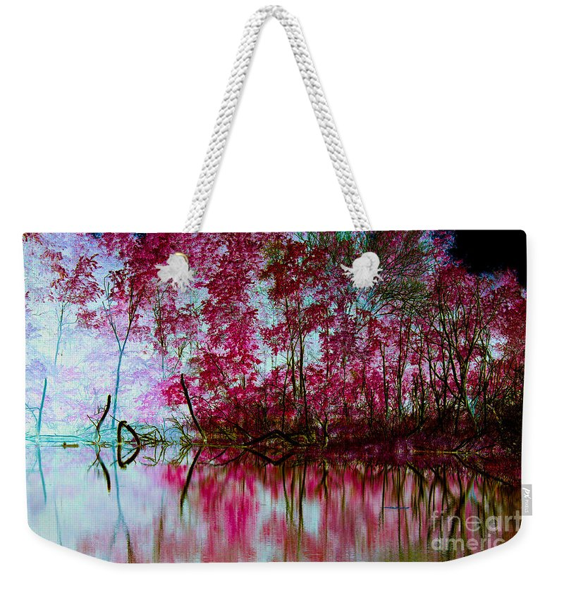 Kooldnala Weekender Tote Bag featuring the photograph Scarlet Water by Alan Look