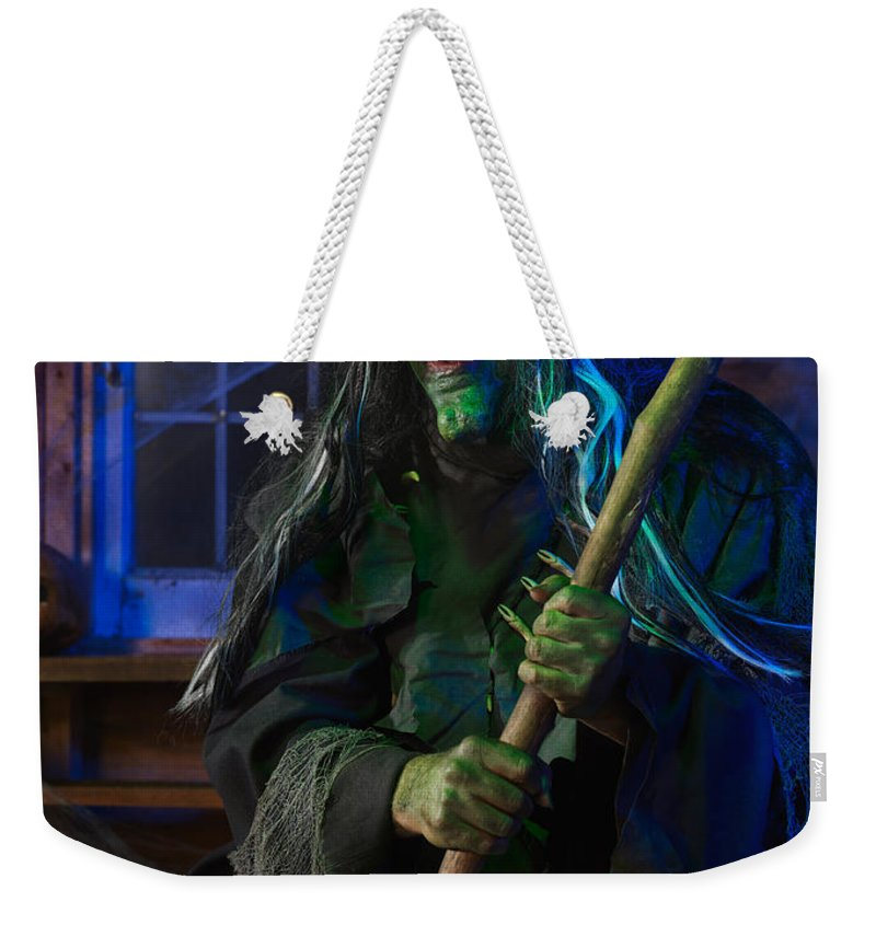 Witch Weekender Tote Bag featuring the photograph Scary Old Witch by Oleksiy Maksymenko
