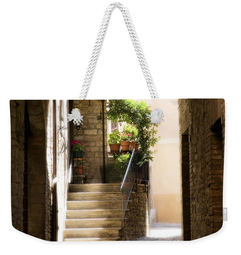 Italy Weekender Tote Bag featuring the photograph Scenic Archway by Marilyn Hunt
