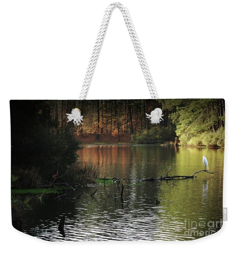 Nature Weekender Tote Bag featuring the photograph Scenic Elder Lake by Kim Henderson
