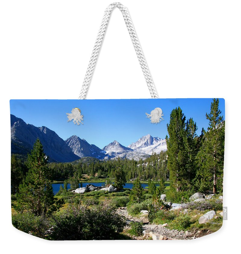 Scenic Mountain View Weekender Tote Bag featuring the photograph Scenic Mountain View by Chris Brannen