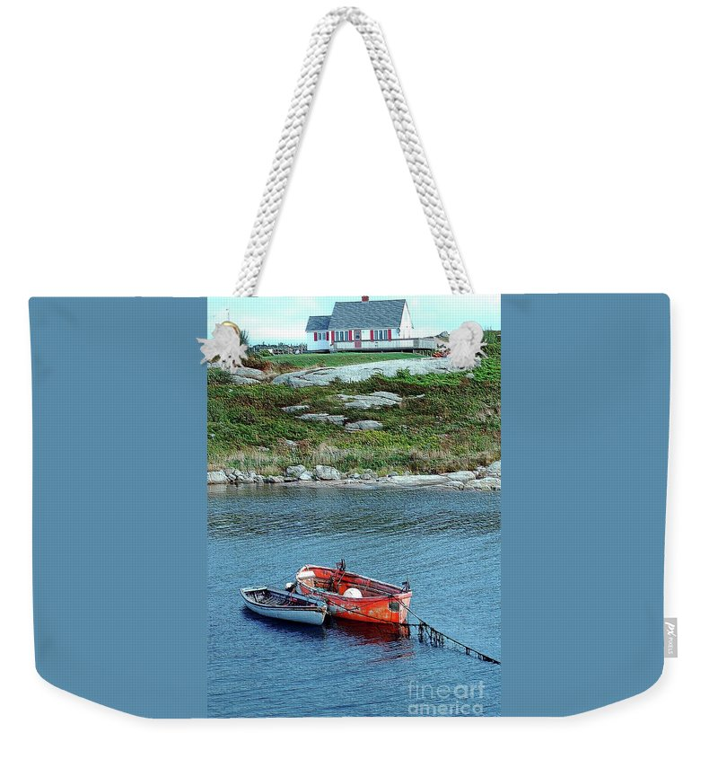 House Weekender Tote Bag featuring the photograph Scenic Village by Kathleen Struckle