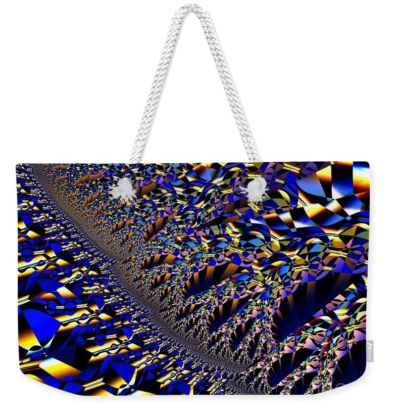Frcatal Art Weekender Tote Bag featuring the digital art Schism by Ron Bissett