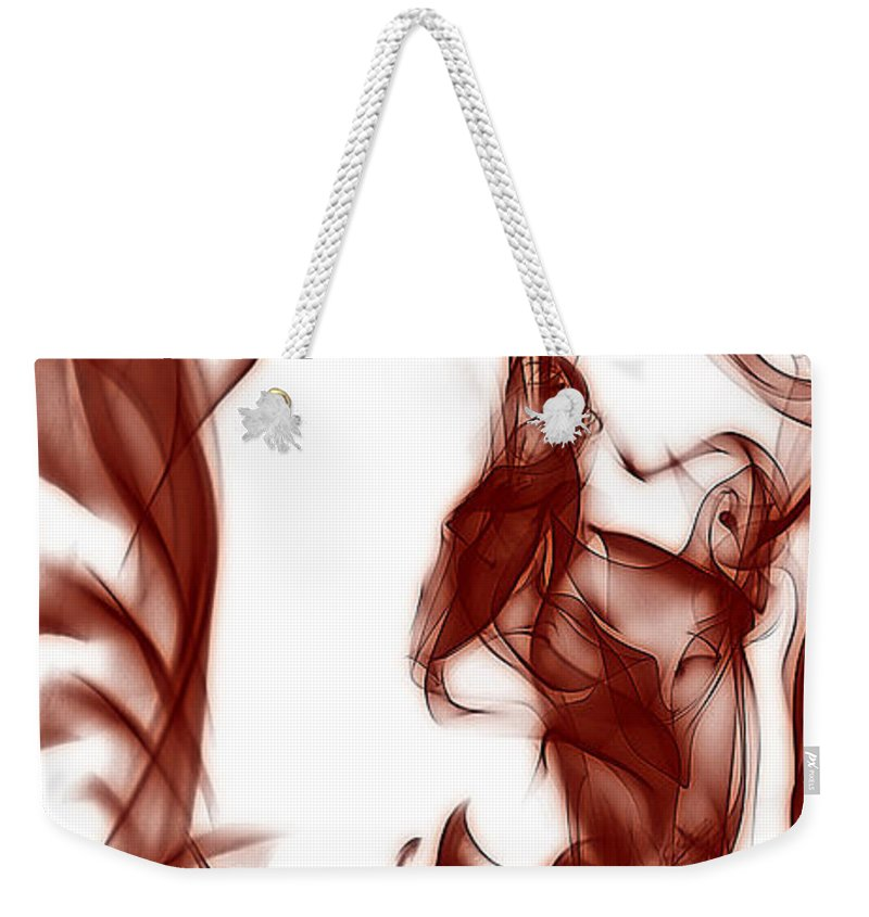 Clay Weekender Tote Bag featuring the digital art Schizophrenia by Clayton Bruster