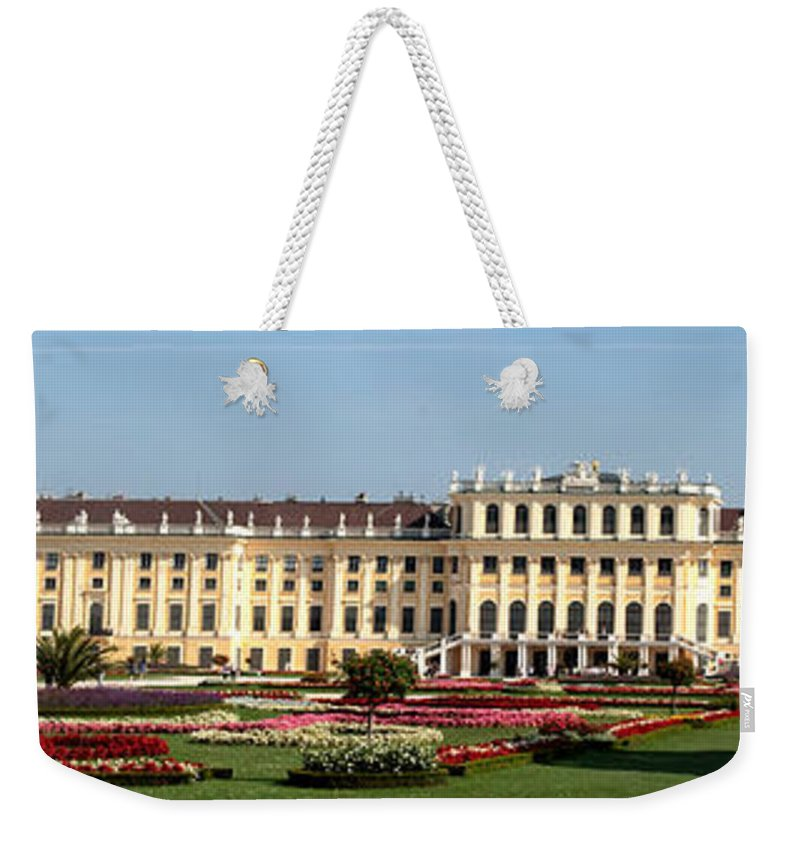 Schonbrunn Palace Hapsburg Vienna Austria Castle Garden Weekender Tote Bag featuring the photograph Schonbrunn Palace And Gardens by Thomas Marchessault