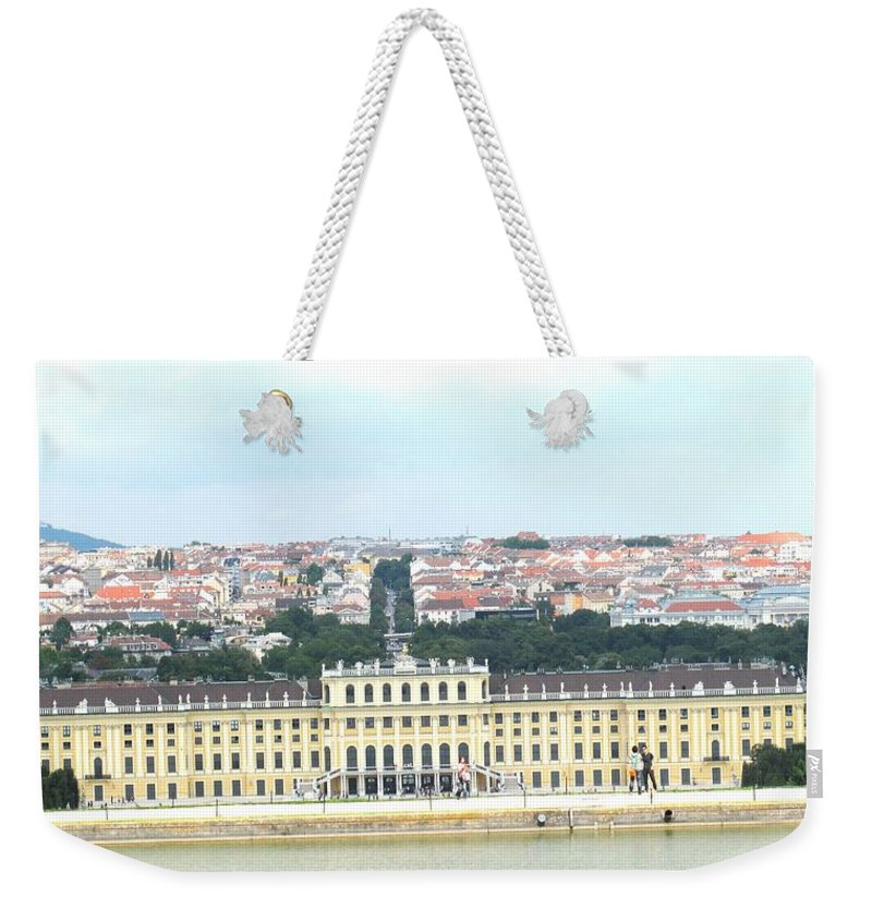 Schonbrunn Weekender Tote Bag featuring the photograph Schonbruun Castle by Ian MacDonald
