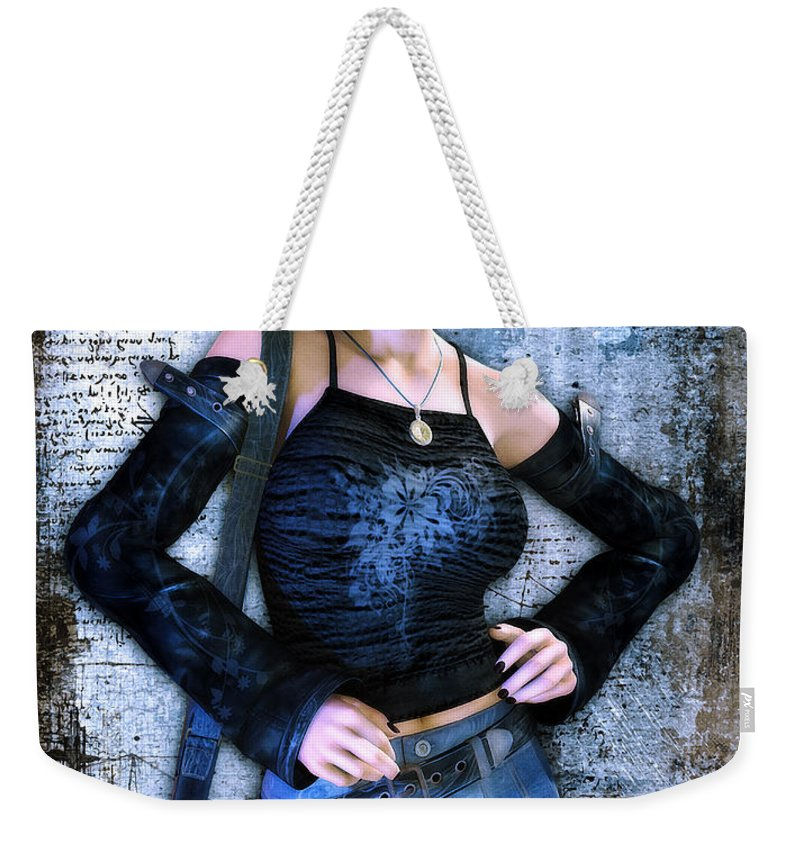 3d Weekender Tote Bag featuring the digital art School Is Out by Jutta Maria Pusl
