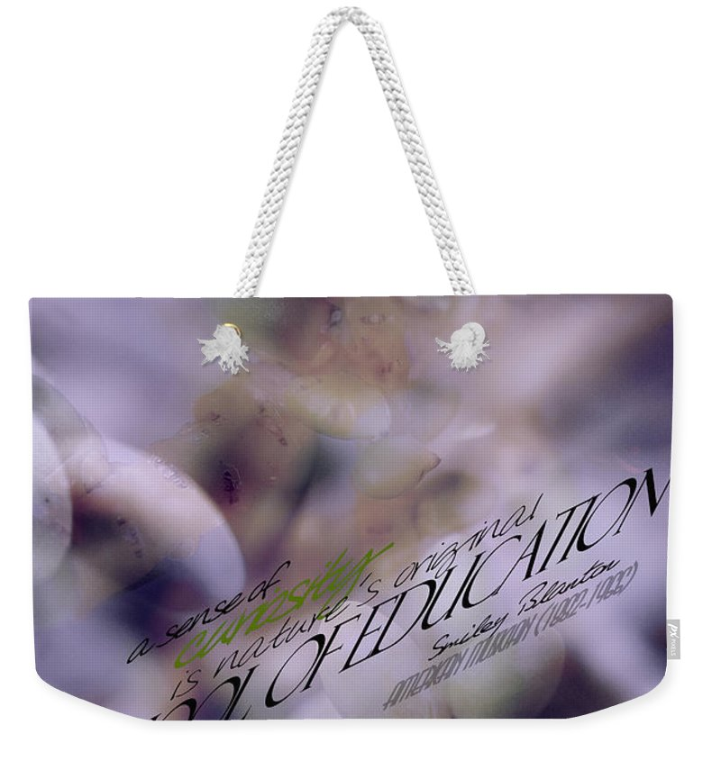 Palm Pods Weekender Tote Bag featuring the photograph School Of Curiosity 06 by Vicki Ferrari