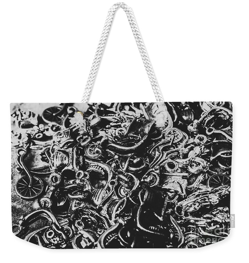 Biker Weekender Tote Bag featuring the photograph Scooter Mechanics Abstract by Jorgo Photography - Wall Art Gallery