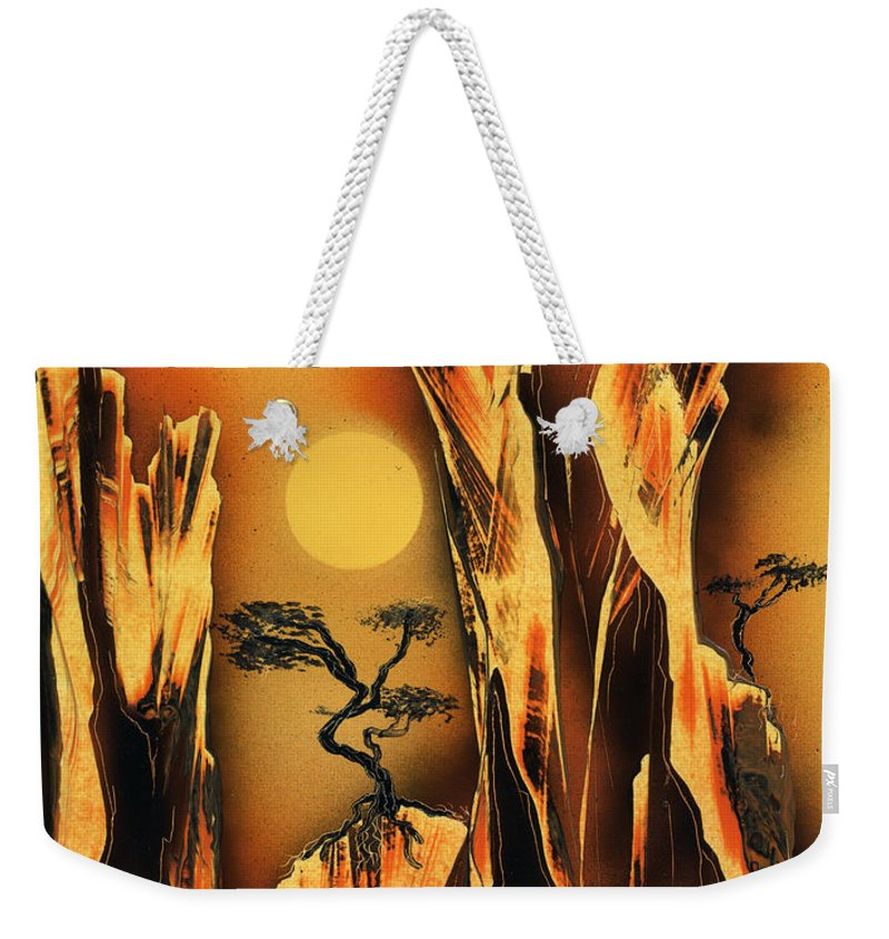 Landscape Weekender Tote Bag featuring the painting Scorcher by Jason Girard