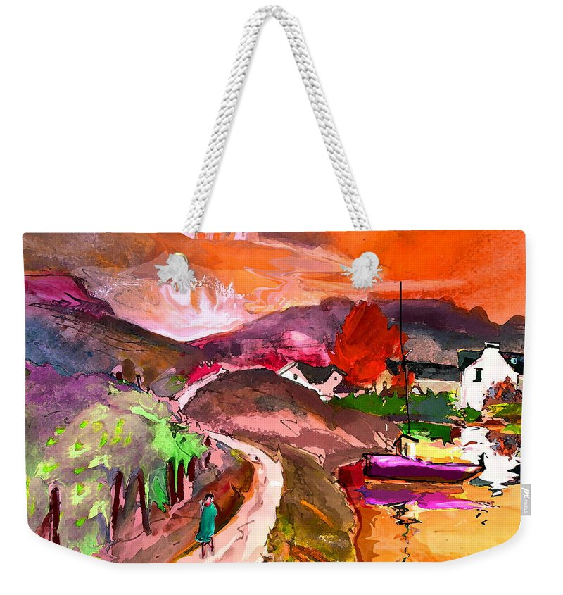 Scotland Paintings Weekender Tote Bag featuring the painting Scotland 02 by Miki De Goodaboom